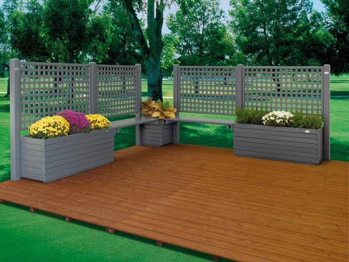 Fioriere griglie recinzioni il ceppo for Accessori per terrazzi e giardini
